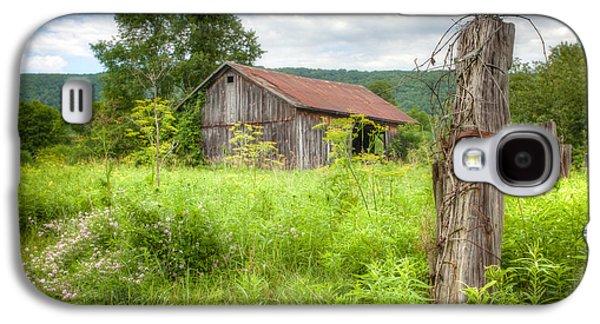 Old Barn Near Stryker Rd. Rustic Landscape Galaxy S4 Case by Gary Heller