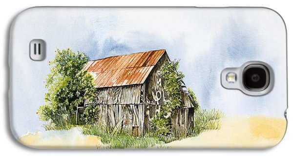 Old Barns Paintings Galaxy S4 Cases - Old Barn Galaxy S4 Case by Virginia McLaren