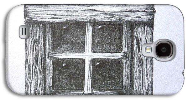 Old Barn Window Galaxy S4 Case