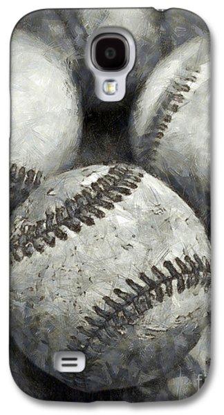 Old Baseballs Pencil Galaxy S4 Case by Edward Fielding