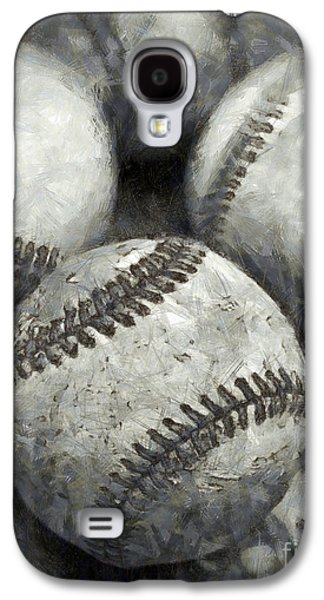 Old Baseballs Pencil Galaxy S4 Case