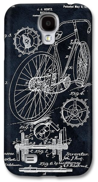 Old Bicycle Patent Illustration 1899 Galaxy S4 Case by Dan Sproul