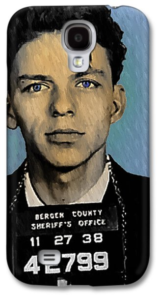 Old Mixed Media Galaxy S4 Cases - Old Blue Eyes - Frank Sinatra Galaxy S4 Case by Bill Cannon