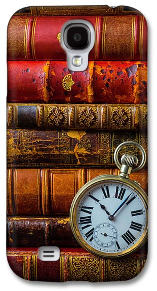 Old Books And Pocket Watch Galaxy S4 Case