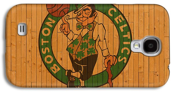 Old Boston Celtics Basketball Gym Floor Galaxy S4 Case by Design Turnpike