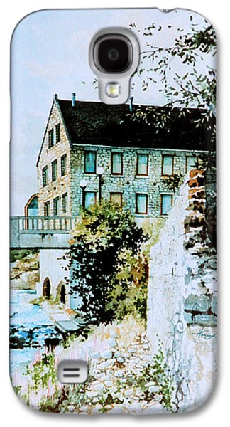 Cambridge Paintings Galaxy S4 Cases - Old Cambridge Mill Galaxy S4 Case by Hanne Lore Koehler