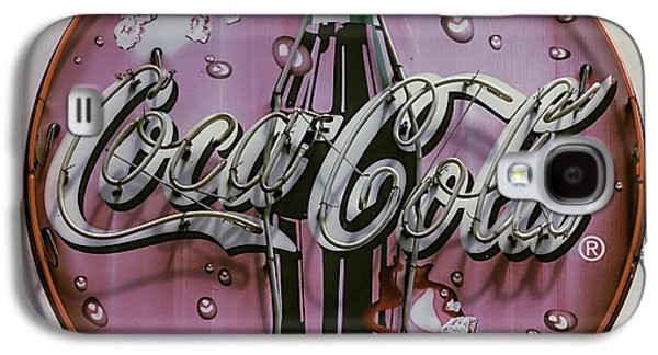 Old Coke Neon Sign Galaxy S4 Case by Garry Gay