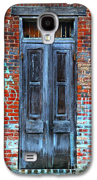 Historical Pictures Galaxy S4 Cases - Old Door With Bricks Galaxy S4 Case by Perry Webster