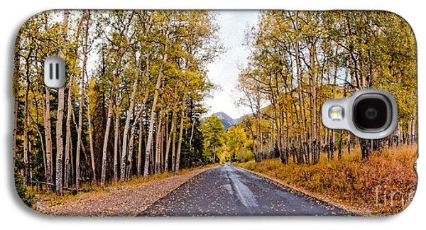 Old Fall River Road With Changing Aspens - Rocky Mountain National Park - Estes Park Colorado Galaxy S4 Case by Silvio Ligutti