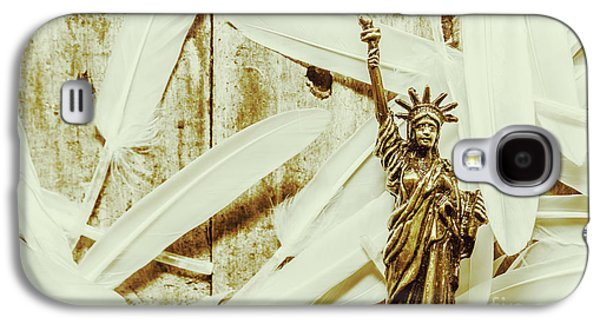 Old-fashioned Statue Of Liberty Monument Galaxy S4 Case by Jorgo Photography - Wall Art Gallery