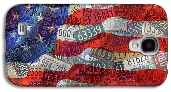 Old Glory In Recycled Vintage License Plates Galaxy S4 Case