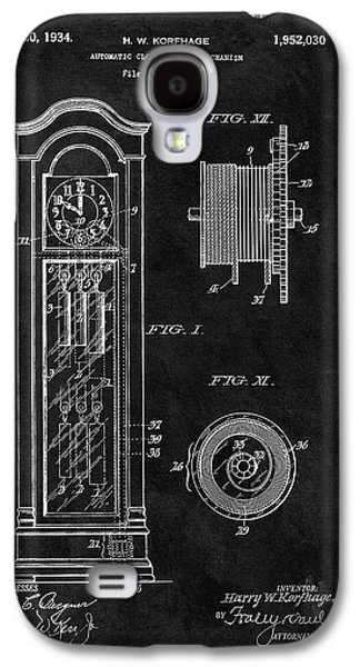 Old Grandfather Clock Patent Galaxy S4 Case by Dan Sproul