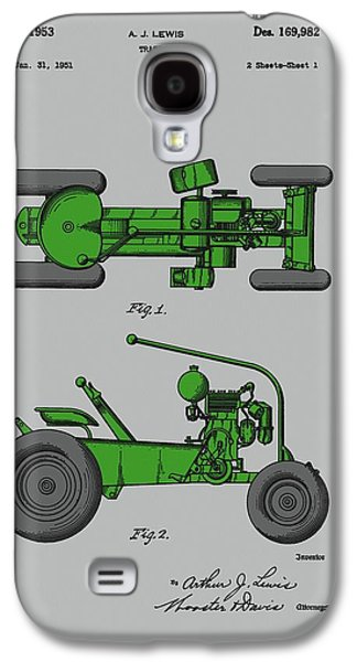 Old Green Tractor Patent Galaxy S4 Case