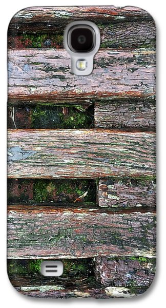 Old Grungy Wood Planks Galaxy S4 Case