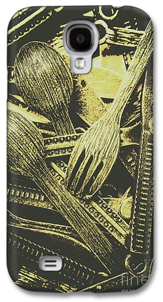 Old Knives Forks And Spoons Galaxy S4 Case by Jorgo Photography - Wall Art Gallery