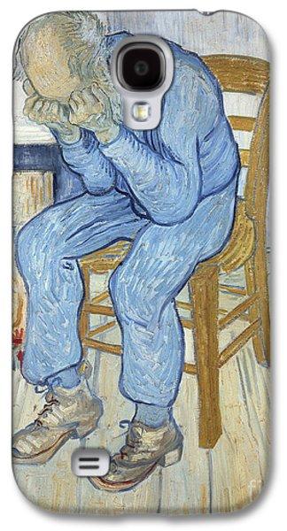 Old Man In Sorrow Galaxy S4 Case by Vincent van Gogh