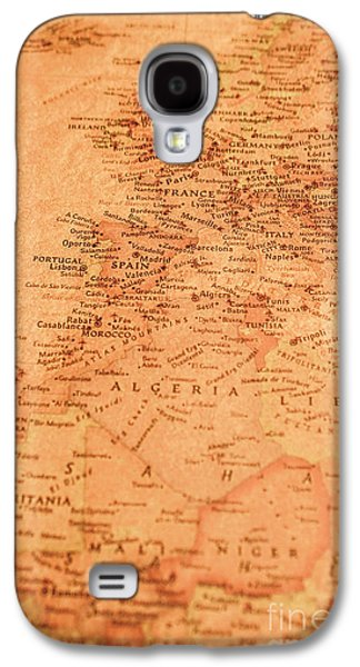 Old Maritime Map Galaxy S4 Case