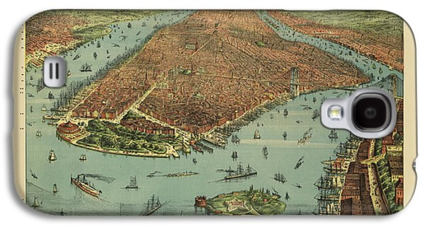 Old New York City Map By Currier And Ives - 1879 Galaxy S4 Case