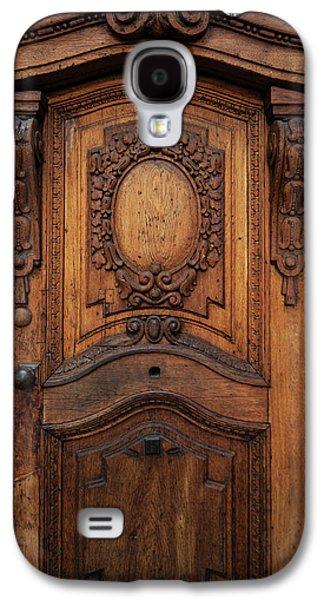 Old Ornamented Wooden Doors Galaxy S4 Case by Jaroslaw Blaminsky