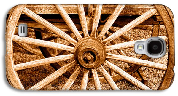 Old Prairie Schooner Wheel - Sepia Galaxy S4 Case