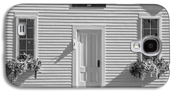 Old Schoolhouse Sunday River Maine Black And White Galaxy S4 Case by Keith Webber Jr