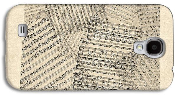 Old Sheet Music Map Of Colorado Galaxy S4 Case