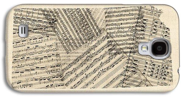 Old Sheet Music Map Of Kansas Galaxy S4 Case