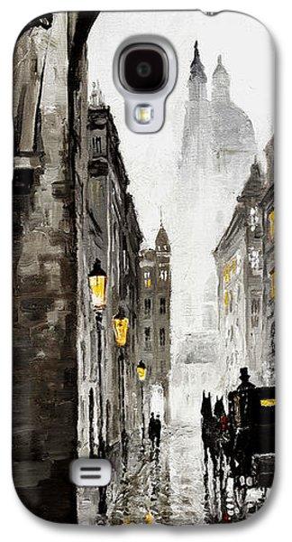 Cab Galaxy S4 Cases - Old Street Galaxy S4 Case by Yuriy  Shevchuk