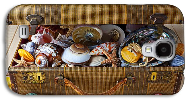 Old Suitcase Full Of Sea Shells Galaxy S4 Case by Garry Gay
