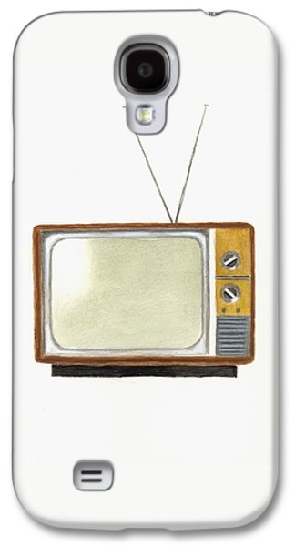 Old Television Set Galaxy S4 Case