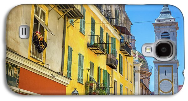 Old Town View On Rue Rossetti In Nice, France Galaxy S4 Case by Liesl Walsh