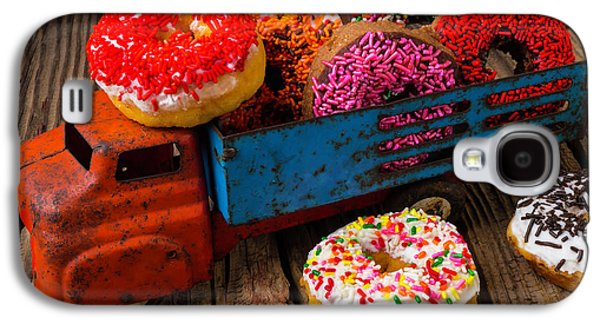 Old Toy Truck And Donuts Galaxy S4 Case by Garry Gay