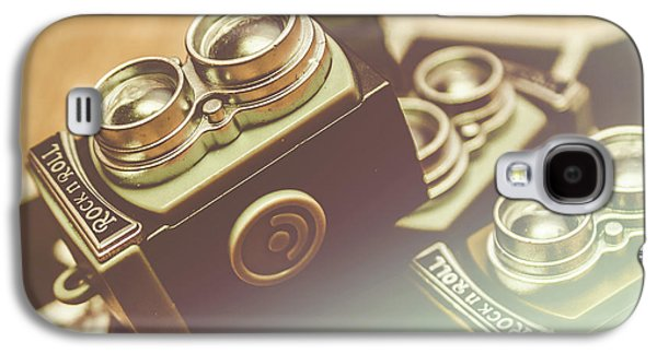 Old Vintage Faded Print Of Camera Equipment Galaxy S4 Case by Jorgo Photography - Wall Art Gallery