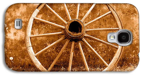 Old Wagon Wheel - Sepia Galaxy S4 Case