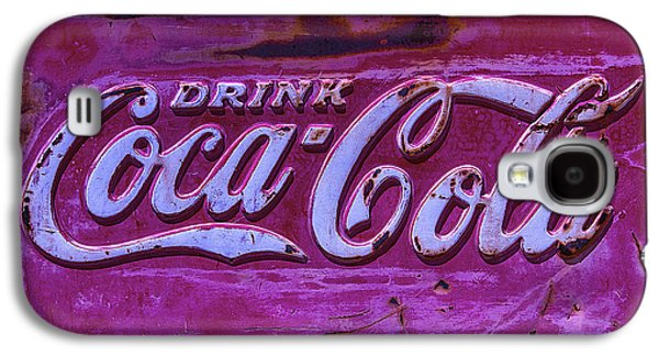 Old Weathered Coke Sign Galaxy S4 Case by Garry Gay