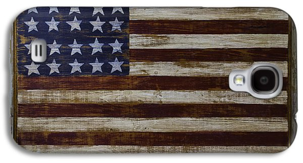 Old Wooden American Flag Galaxy S4 Case by Garry Gay
