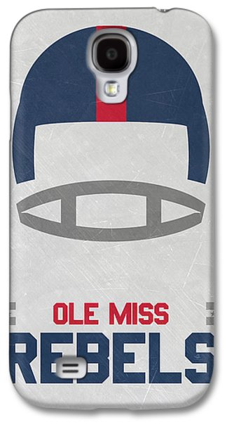 Ole Miss Rebels Vintage Football Art Galaxy S4 Case