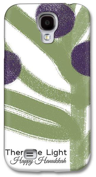 Olive Branch Hanukkah Card- Art By Linda Woods Galaxy S4 Case