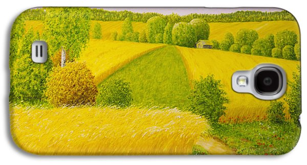 On August Grain Fields Galaxy S4 Case by Veikko Suikkanen