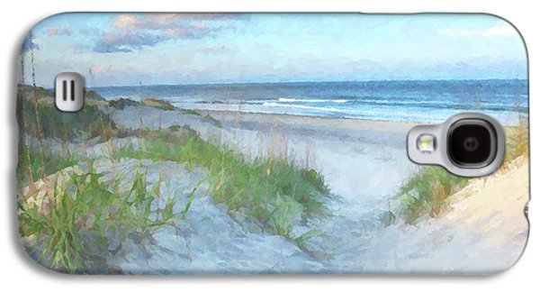 On The Beach Watercolor Galaxy S4 Case