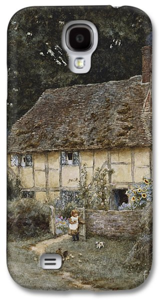 On The Brook Road Near Witley Galaxy S4 Case by Helen Allingham