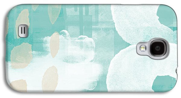 On The Shore- Abstract Painting Galaxy S4 Case by Linda Woods