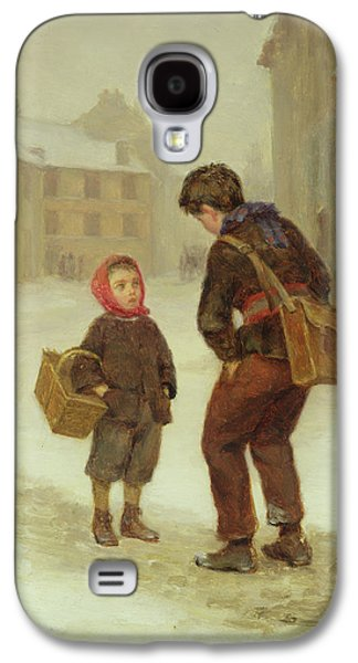 On The Way To School In The Snow Galaxy S4 Case