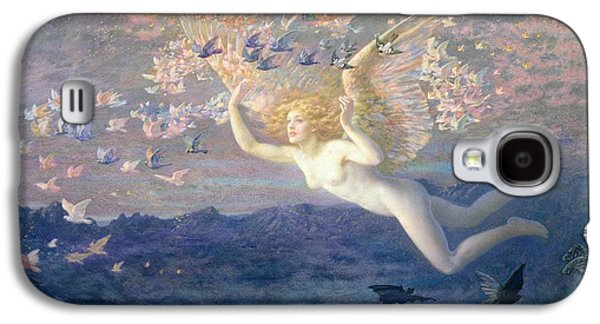 On The Wings Of The Morning Galaxy S4 Case by Edward Robert Hughes