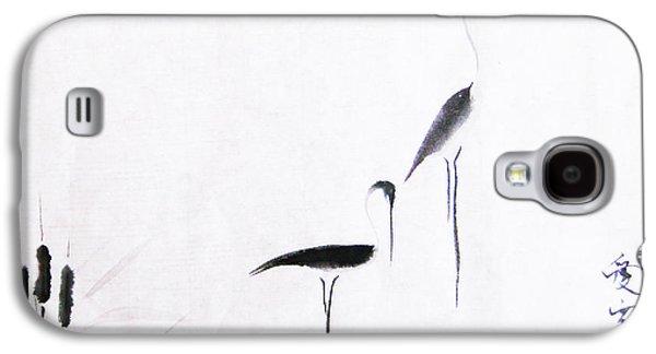 Crane Galaxy S4 Case - On Typha Pond by Oiyee At Oystudio