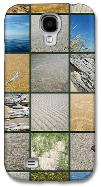 Sand Patterns Galaxy S4 Cases - One Day at the Beach ll Galaxy S4 Case by Michelle Calkins