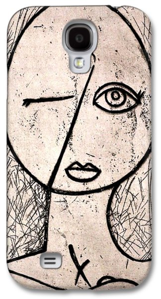 Drawing Reliefs Galaxy S4 Cases - One Eye Galaxy S4 Case by Thomas Valentine