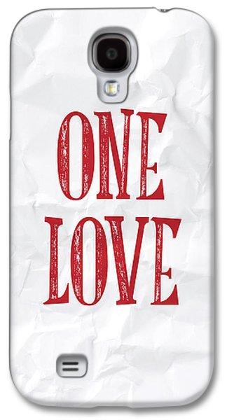 One Love Galaxy S4 Case by Samuel Whitton