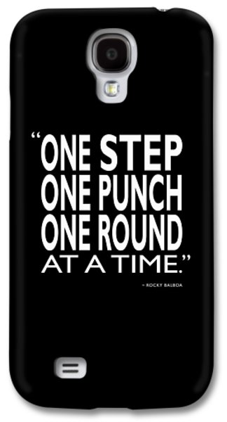 One Step One Punch One Round Galaxy S4 Case by Mark Rogan