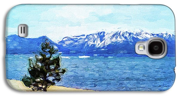 Waterscape Galaxy S4 Case - Water Shoreline Tree Silhouetted by Mona Stut